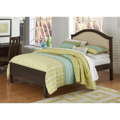 NE Kids Highlands Bailey Full Upholstered Bed in Espresso