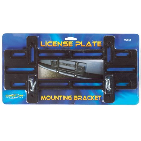 CUSTOM ACCESSORIES License Plate Mounting Bracket, (License Plate Mounting Bracket)