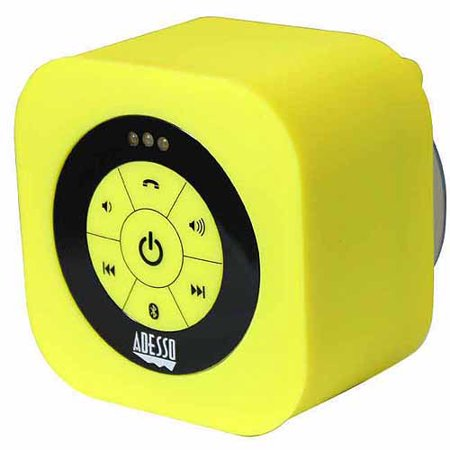Adesso XtreamS1 Waterproof Bluetooth Speaker, Yellow