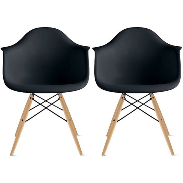 2xhome Set Of 2 Black Desk Chairs Mid, Black Desk Chairs