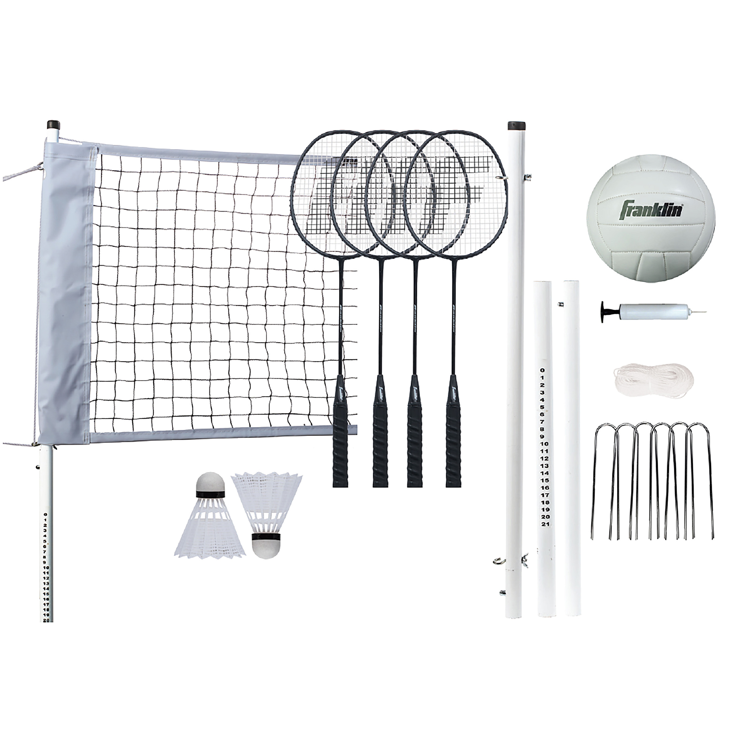 Franklin Sports Professional Volleyball Badminton Combo Set