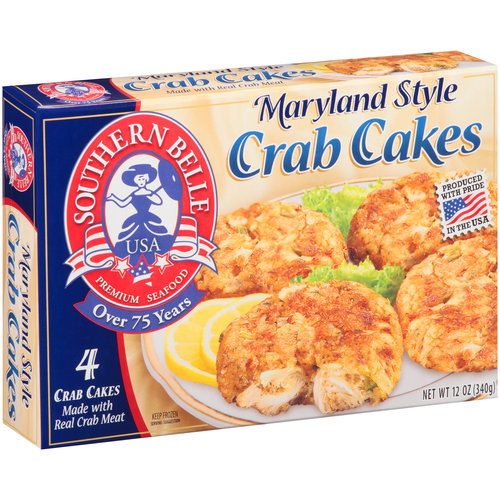 Shaw's Premium Seafood Maryland Style Crab Cakes, 4 count, 12 oz