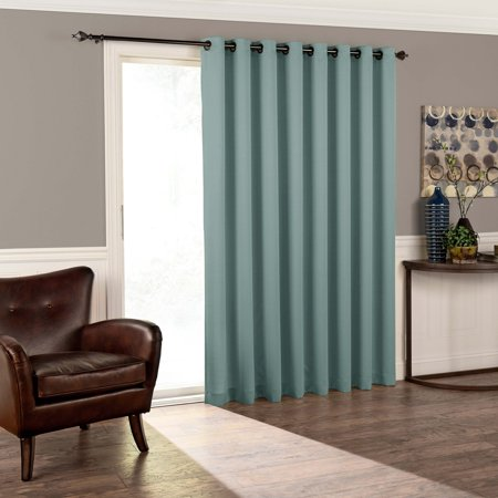 Eclipse Thermal Blackout Tricia Patio Door Window Curtain Panel ()