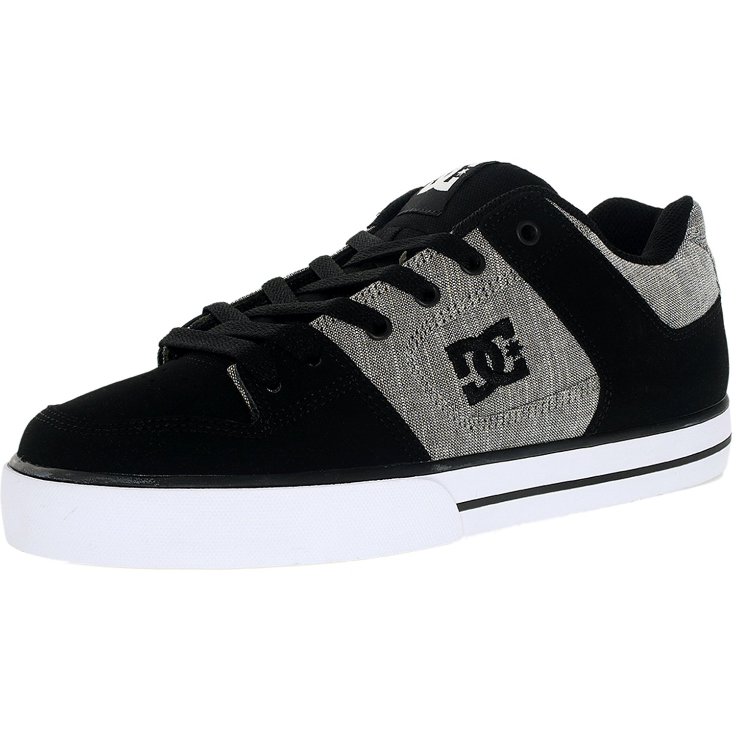 DC Men's Pure Xe Black Rinse Ankle-High Leather Skateboar...