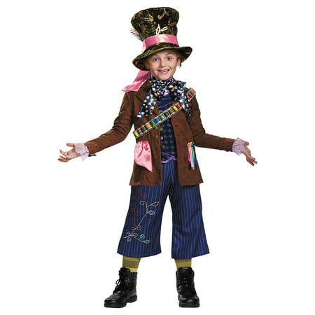 Mad Hatter Prestige Child Costume - Large - Female Mad Hatter Costumes