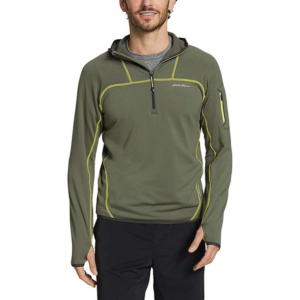 Eddie Bauer First Ascent Men's LS High Route Grid Half Zip