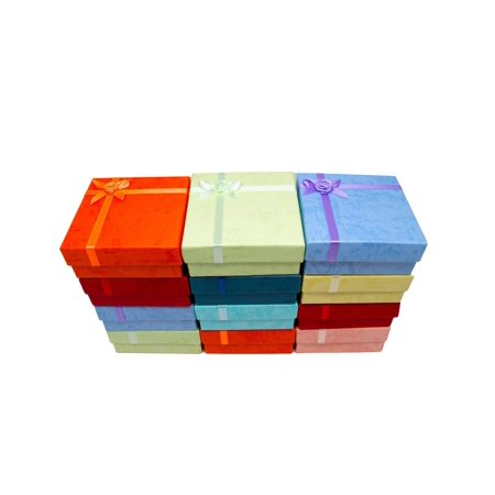 Novel Box Cardboard Jewelry Gift Boxes With Rosebug Bows In Assorted Colors