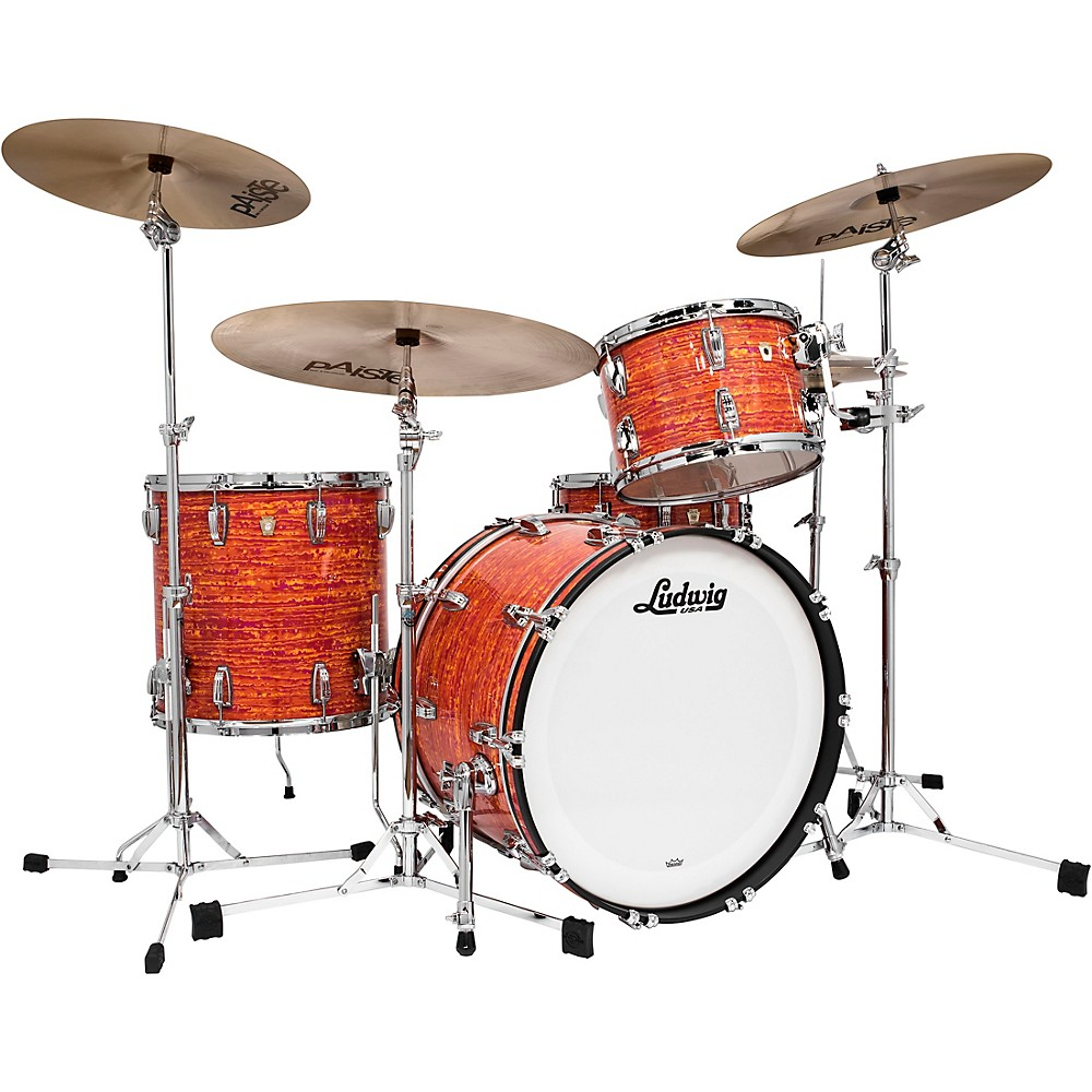 Ludwig Classic Maple FAB 3-piece Shell Pack Mod Orange