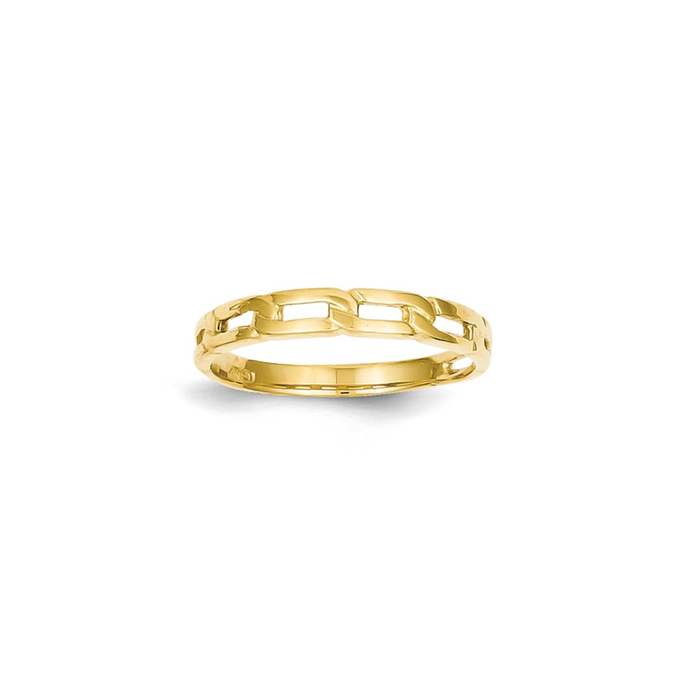 14k Yellow Gold Five Chain Link Band Ring