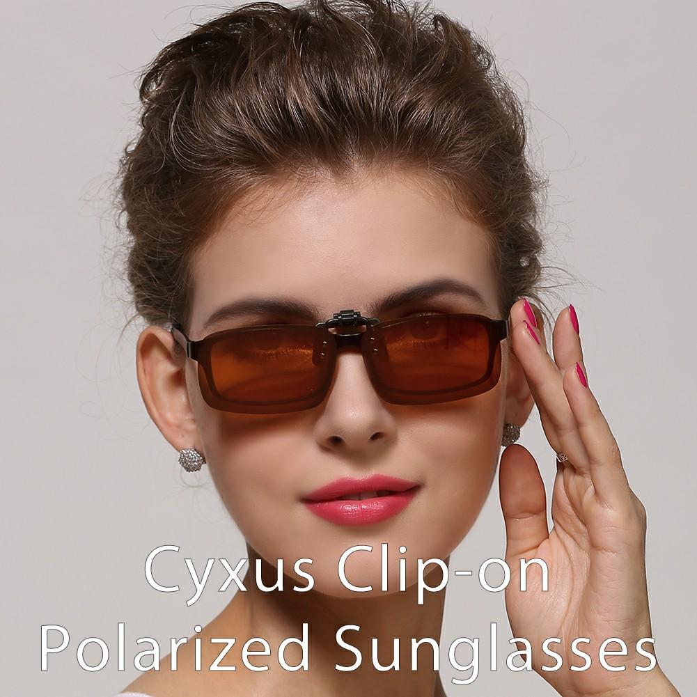 a33eab906827 Cyxus - Cyxus  2 Pack  Polarized Lenses Classic Clip-On Sunglasses ...