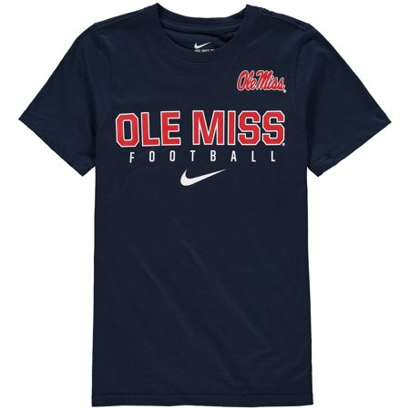Ole Miss Rebels Nike Youth Sideline Core Football T-Shirt - Navy