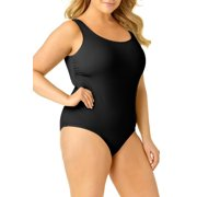 Catalina Women's Plus Size Ribbed One Piece Swimsuit