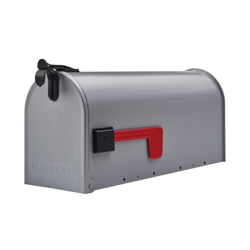 Gibraltar Grayson Medium, Galvanized Steel, Gray, Post Mount Mailbox by Solar Group, Inc.