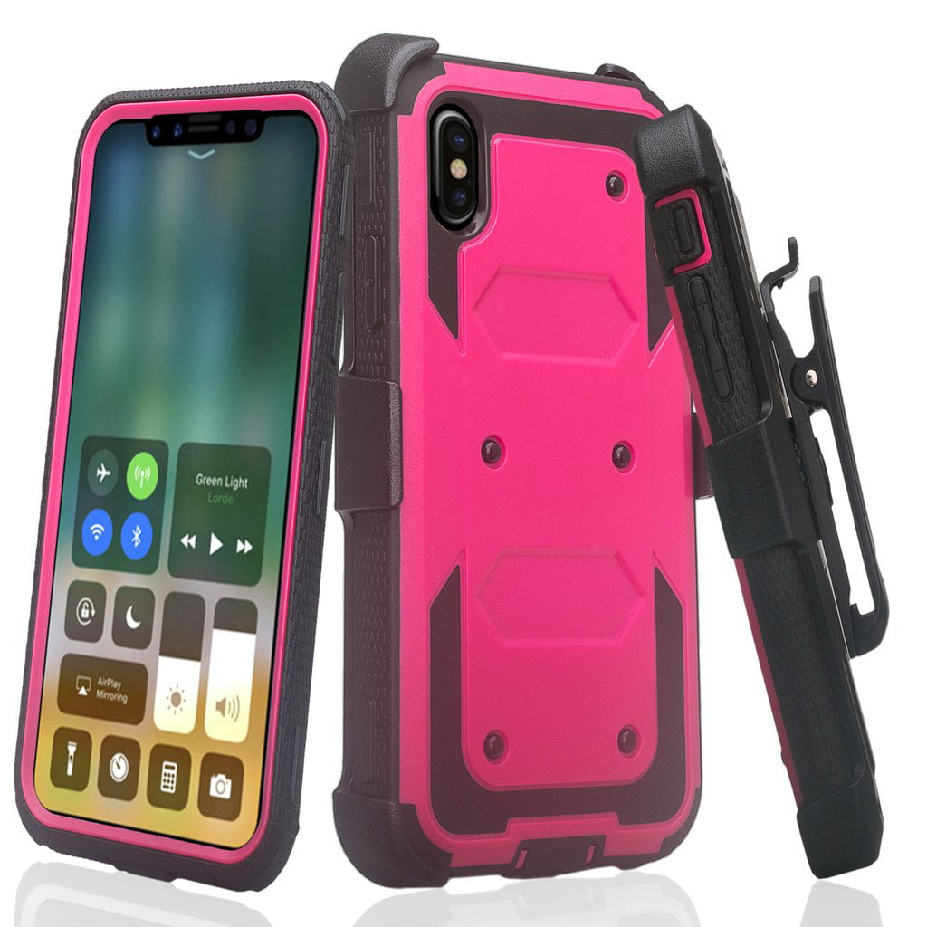 iphone xr case and screen protector kickstand