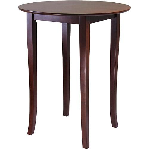 Fiona Round High Table, Antique Walnut