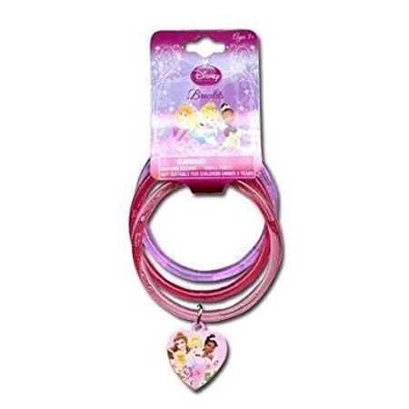 disney princess glitter bangle bracelets with plastic charm](Bangle Charm Bracelets)