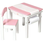 Guidecraft Art Table and Chair Set, Pink