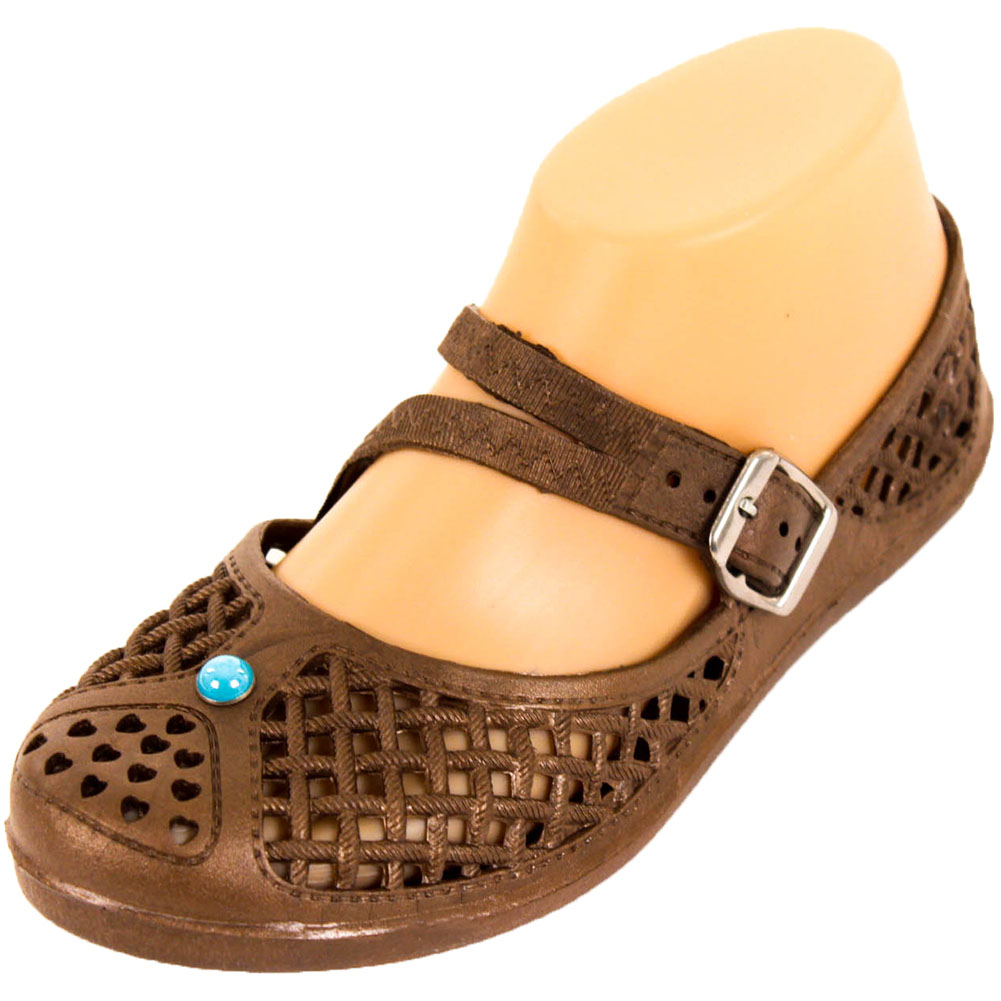 Sandal King Women's Mary Jane Jelly Flats