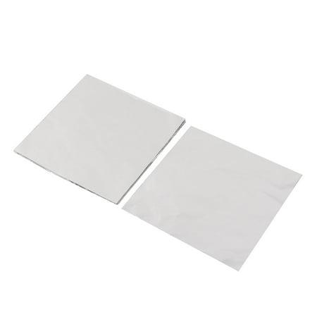 Aluminum Foil Candy Chocolate Wrapper Tinfoil Paper Silver Gray 10 x 10cm 100pcs - image 3 de 3