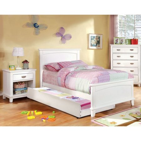 Furniture of America Alana Marie Inspired 2-Piece Bedroom Collection with 2 Nightstands - White