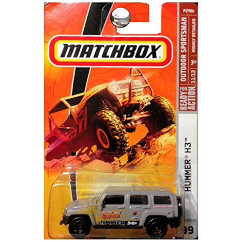 HUMMER H3 Matchbox 2009 Desert Race Series Gray H3 1:64 Scale Collectible Die Cast Car SUV... by Mattel
