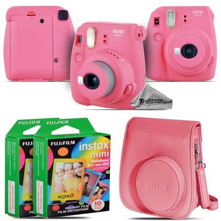 Fujifilm instax mini 9 Instant Film Camera (Pink) + Pink Case - 20 Films