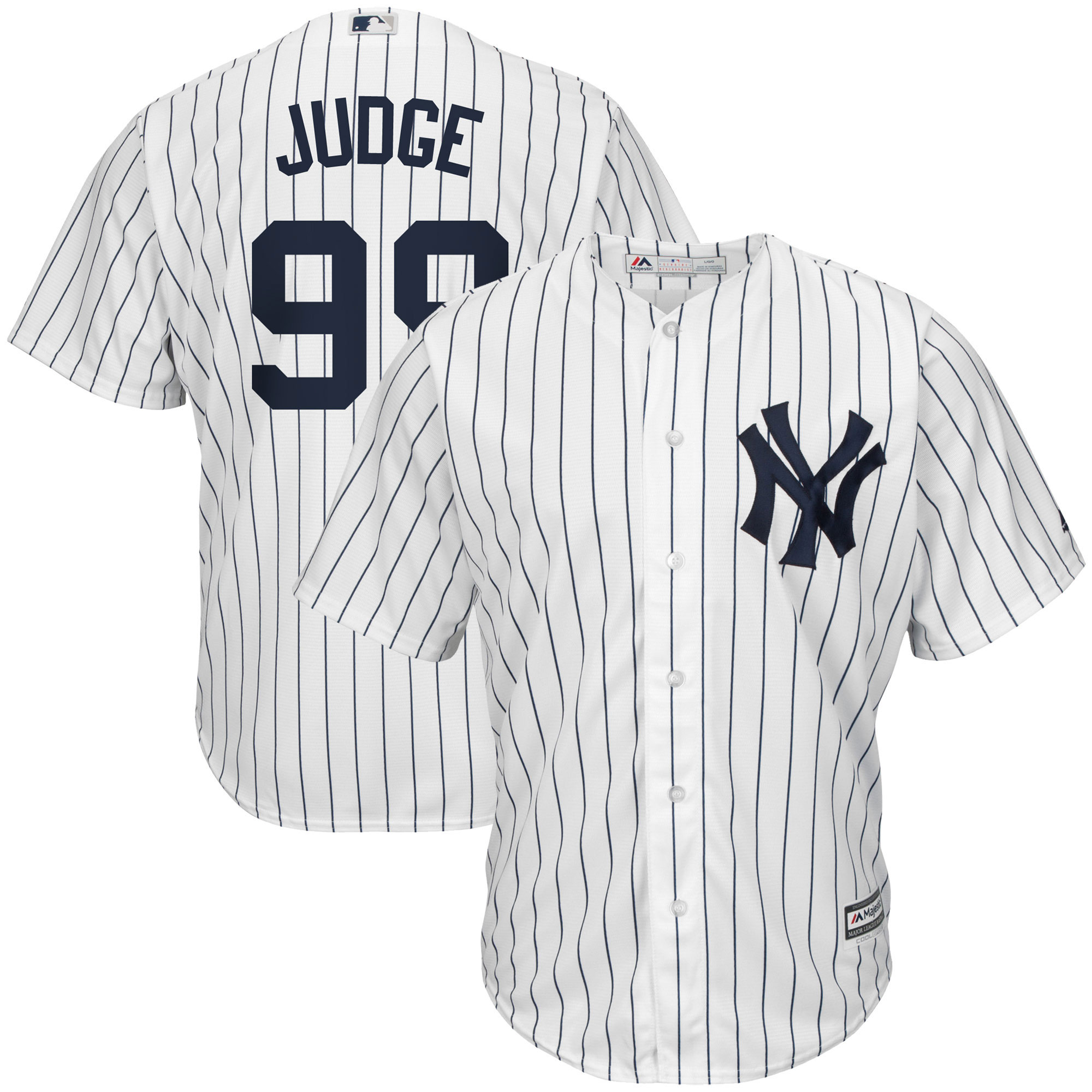 Aaron Judge New York Yankees Majestic Home Cool Base Player Jersey - White/Navy