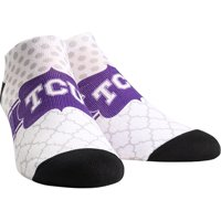TCU Horned Frogs Rock Em Socks Women's Quatrefoil Dots Low Ankle-Length Socks