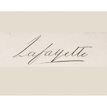 Signature Of Marie-Joseph-Paul-Yves-Roch-Gilbert Du Motier Marquis De Lafayette 1757 To 1834 French Solider Who Fought Wiith Americans In American Revolution Stretched Canvas - Ken Welsh  Design