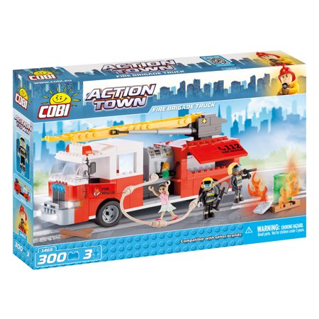 COBI Action Town Fire Brigade Truck 300 Piece Construction Blocks Building Kit](Construction Blocks)
