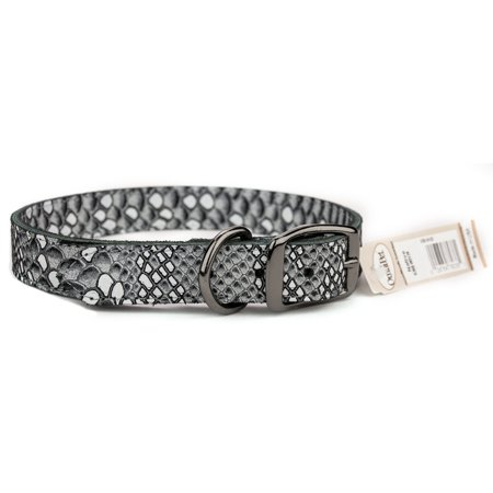 omni pet white native leather dog collar