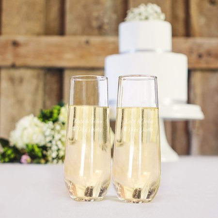 Personalized Stemless Champagne Flutes - Personalized Champagne Glasses