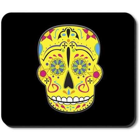 Art Plates Mouse Pad - Yellow Sugar Skull