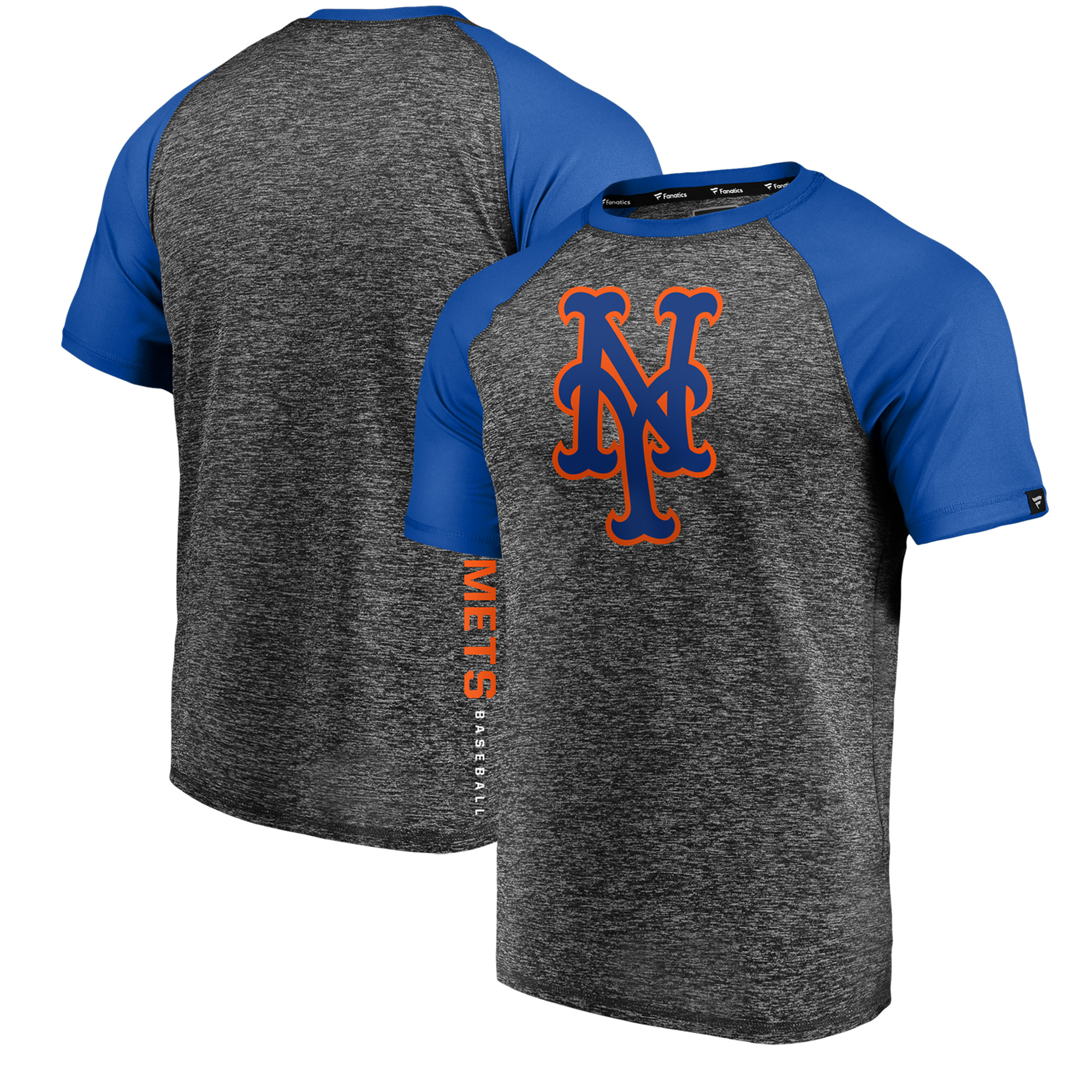 New York Mets Fanatics Branded Static T-Shirt - Charcoal/Royal