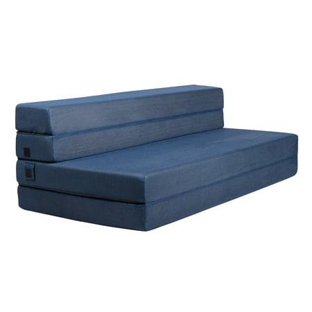 Milliard Tri-Fold Foam Folding Mattress and Sofa Bed for Guests or Floor Mat - Queen 78x58x4½ (Foam Folding Bed)