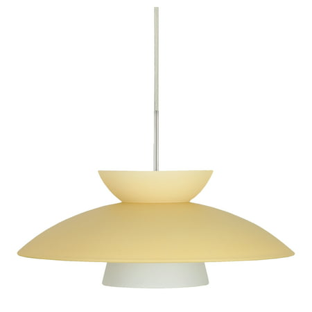 Besa Lighting 1JT-451397 Trilo 1-Light Cord-Hung Pendant with Champagne Glass Shade (Besa Lighting Trilo Champagne)