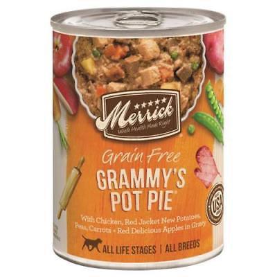 2PK Merrick 13.2 oz Grain Free All Life Stages Grammy's Chicken Pot Pie Dog Food