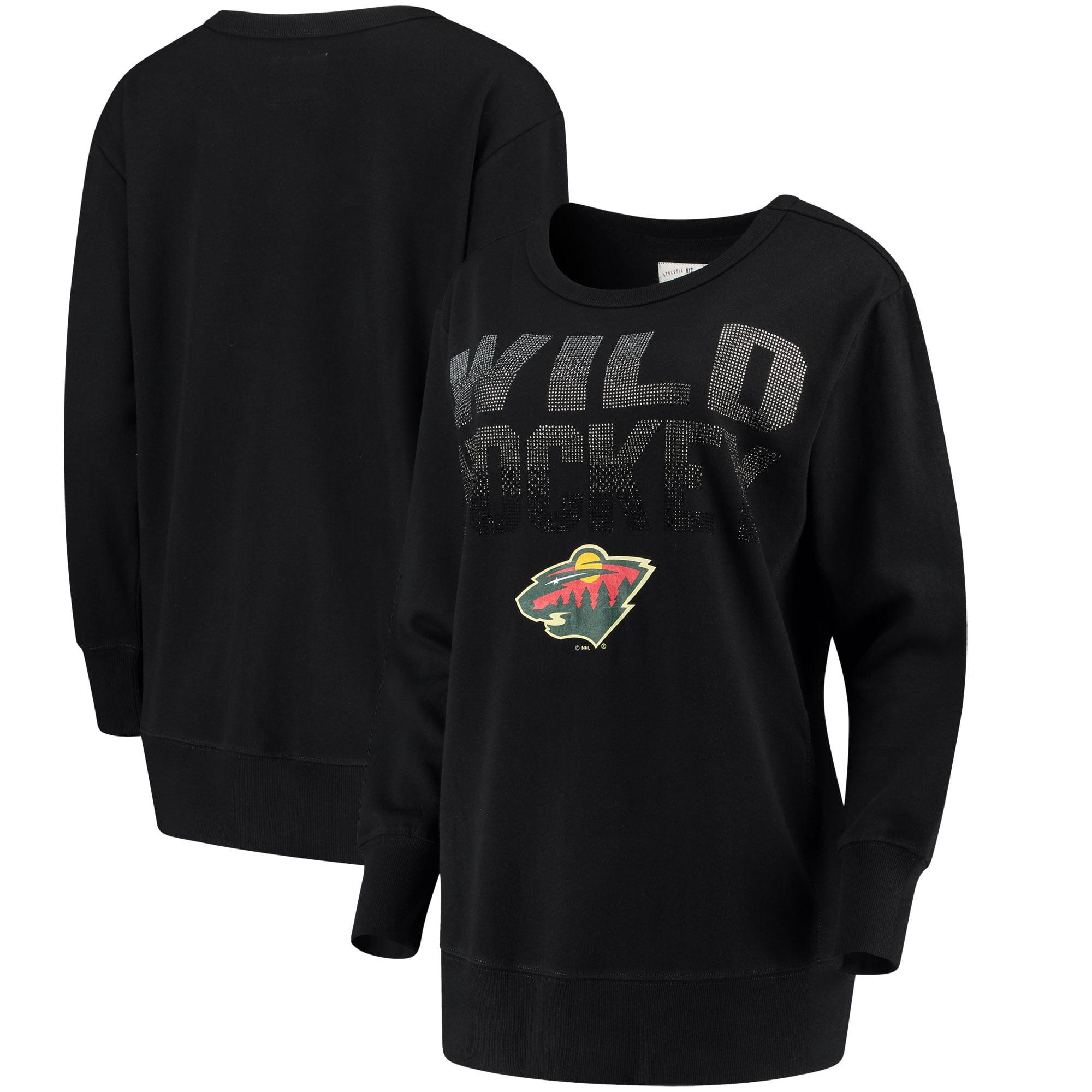 Minnesota Wild G-III 4Her by Carl Banks Women's Showtime Pullover Crewneck Sweatshirt - Black