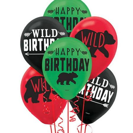 1st Birthday 'Little Lumberjack' Latex Balloons (15ct)](Little Man First Birthday)