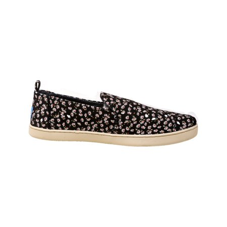 2fbed0c2c77 Toms Women s Deconstructed Alpargata Canvas Black Ditzy Daisy Ankle-High  Slip-On Shoes ...