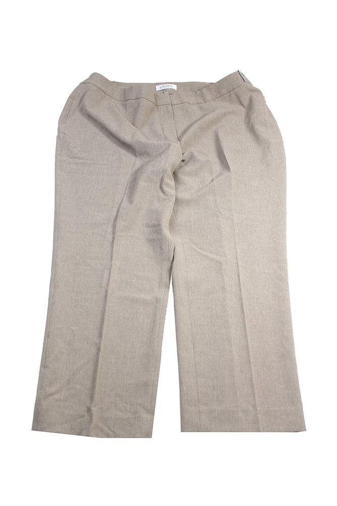 Kasper Plus Size  Brown Black Stretch Crepe Pants 24W