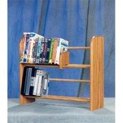 Wood Shed 205 Solid Oak 2 Row Dowel DVD-VHS Rack