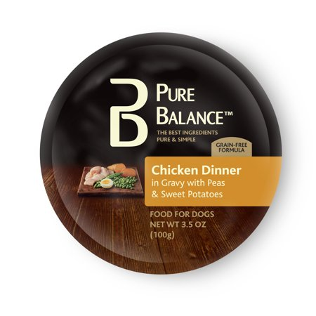 - (6 pack) Pure Balance Chicken Dinner Wet Food for Dogs, 3.5 oz