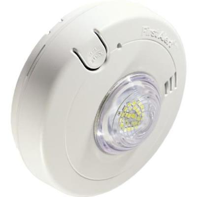 BRK® Direct Wire Photoelectric Smoke Alarm With LED Strobe, 120V AC, Batt Backup