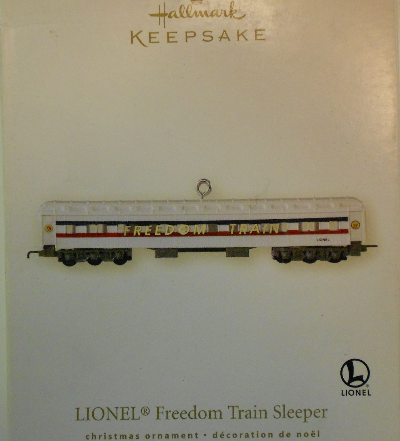 2007 HALLMARK LIONEL FREEDOM TRAIN COMPLETE SET OF 3