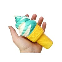 (BROWN) Large Ice Cream Cone Squishy Slow Rise Sweet Treat - Sensory, Stress, Fidget Toy