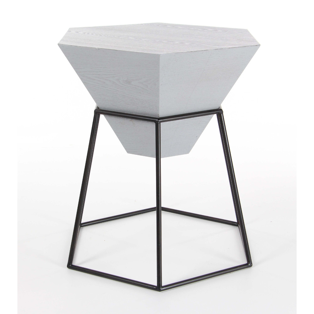 Hexagonal Shaped Accent Table by Benzara