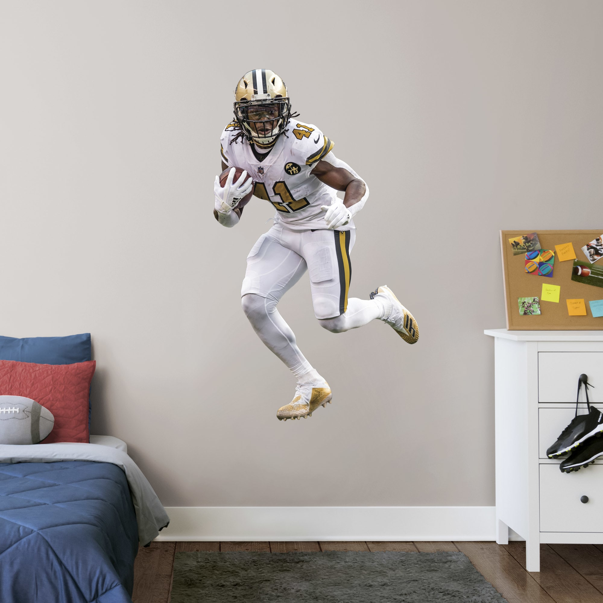 Fathead Alvin Kamara Color Rush Giant Officially Licensed Nfl Removable Wall Decal Walmart Com Walmart Com