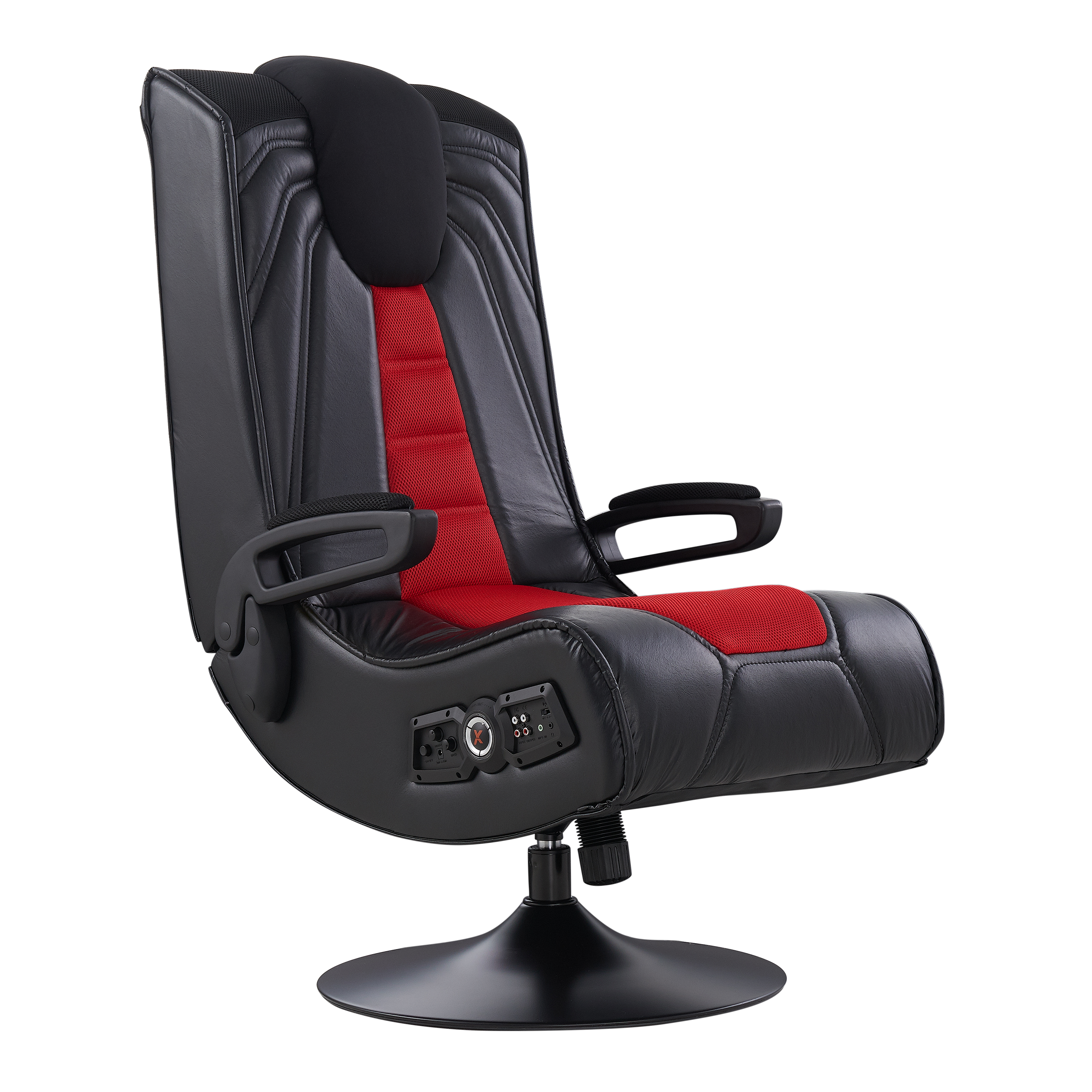 X Rocker Spider 2.1 Wireless Gaming Chair Rocker with Vibration, Black/Red