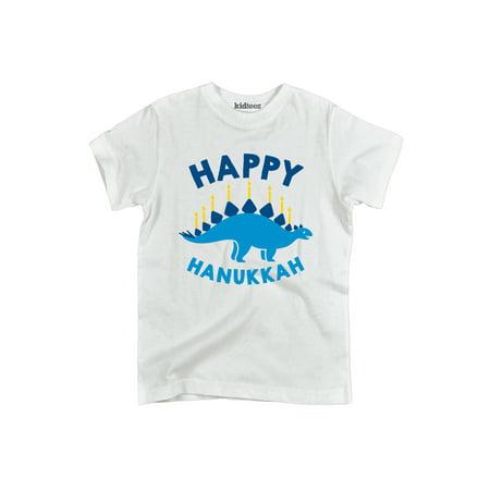 Happy Hanukkah Dinosaur-Toddler Short Sleeve Tee